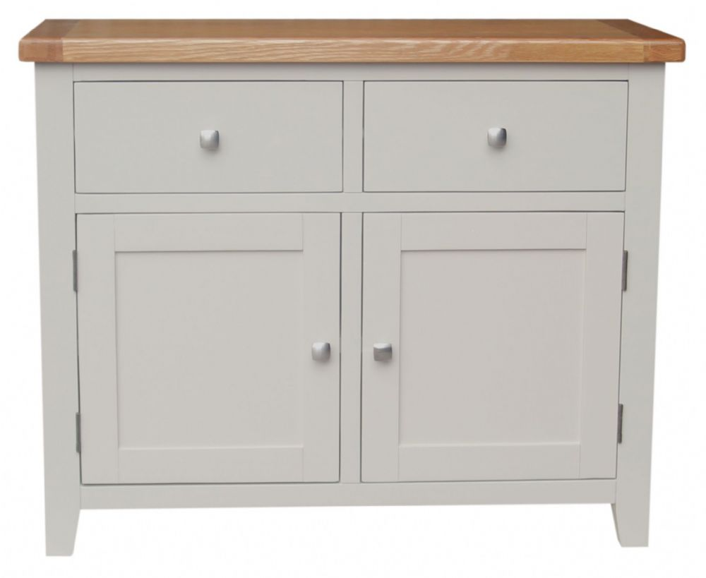 Malvern Grey Painted Range - Classic solid furniture, with oak tops and painted dove grey cabinets